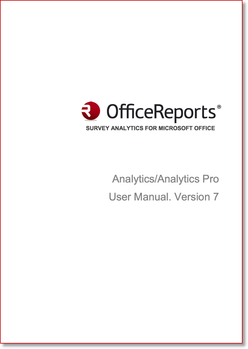 Analytics User Manual V7