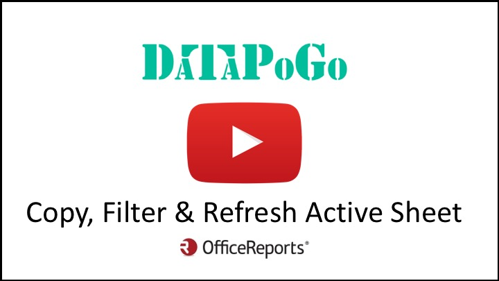 Copy, Filter & Refresh Active Sheet