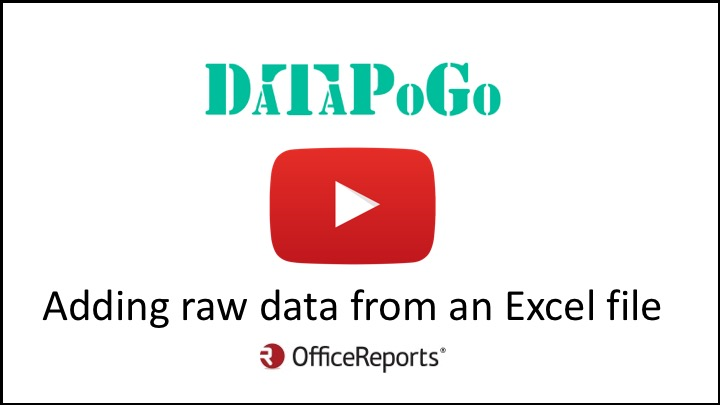 Adding raw data from an Excel data file